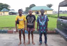 The kidnappers arrested by the Nigerian Army in Port Harcourt, Rivers State