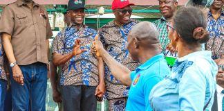 Vice President Yemi Osinbajo attends 2019 May Day Parade at Eagle Square, Abuja on 1 May 2019