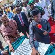 Vice President Yemi Osinbajo commisssioning a project in Borno State