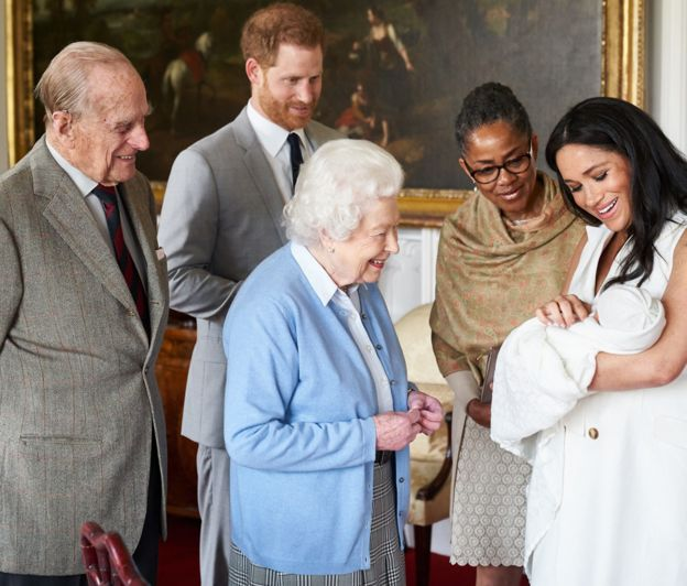 Royal baby Archie introduced his great grand mother