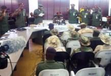 Brigadier Ezugwu inaugurating the court martial in Maiduguri
