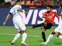 Mohamed Salah has scored his first goal at the 2019 AFCON