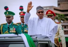 President Muhammadu Buhari and Vice President Yemi Osinbajo have graced the maiden June 12 Democracy Day celebration at Eagles Square in Abuja corruption