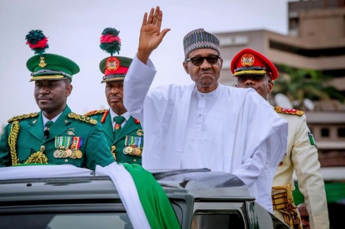 President Muhammadu Buhari and Vice President Yemi Osinbajo have graced the maiden June 12 Democracy Day celebration at Eagles Square in Abuja