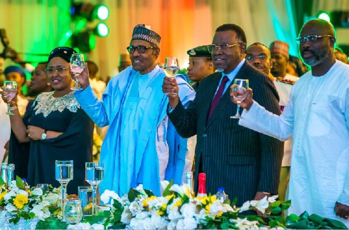 President Muhammadu Buhari hosted other foreign leaders during the June 12 Democracy Day dinner gala
