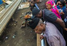 FILE: Vice President Yemi Osinbajo visits Apapa to review progress of the traffic gridlock, Lagos.