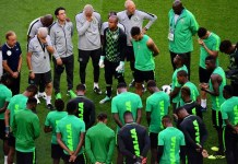 Nigeria super Eagles in camp