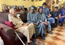 Asiwaju Bola Tinubu paid a condolence visit to Pa Reuben Fasoranti