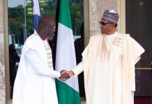 President George Weah of Liberia and President Muhammadu Buhari of Nigeria