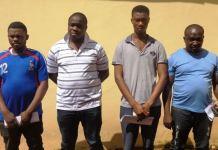 EFCC Enugu Zonal Office parade four internet fraudsters