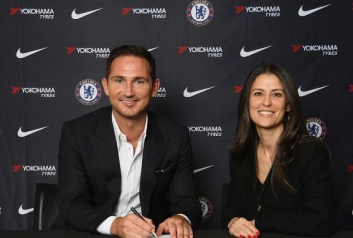 Chelsea director Marina Granovskaia and Frank Lampard