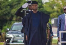 Vice President Yemi Osinbajo, SAN, at the annual Nigeria Army Day Celebration in Ikeja Cantonment, Lagos