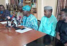 Former President Olusegun Obasanjo (middle) during the meeting in Abeokuta, Ogun State