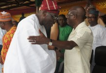 Governor Godwin Obaseki and APC national chairman Adams Oshiomhole