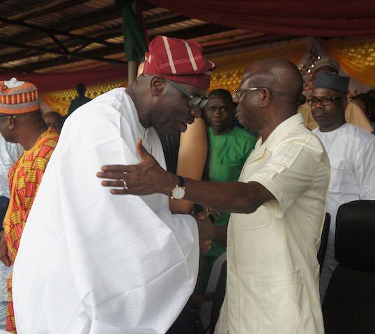 Governor Godwin Obaseki and APC national chairman Adams Oshiomhole