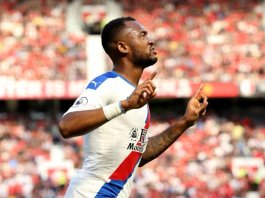 Jordan Ayew scored Crystal Palace's first goal against Manchester United