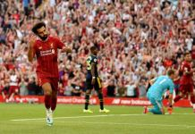 Mohamed Salah scored twice as Liverpool maintained their winning streak