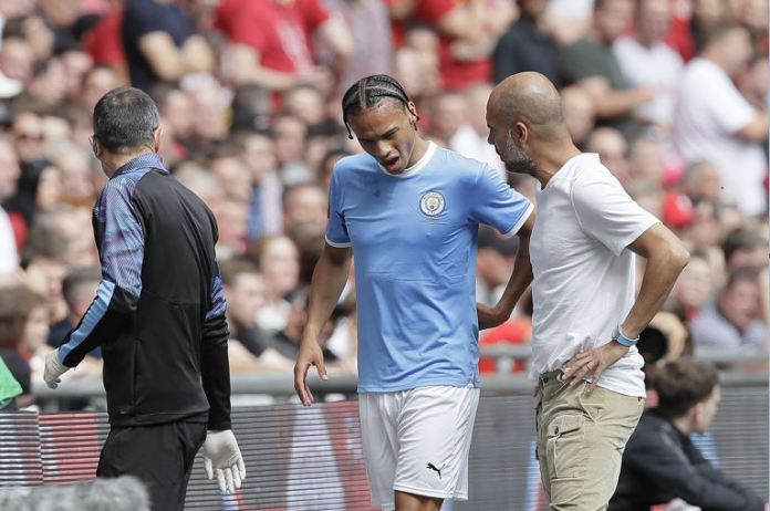 Pep Guardiola expects Leroy Sane to be out for up to six or seven months