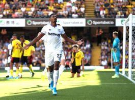 Sebastien Haller sccored his first goals for West Ham against Watford