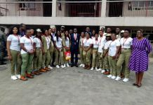 The visiting corps members with Abdulrasheed Bawa