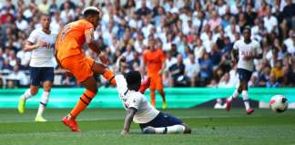 Joelinton scored his first goal for Newcastle after some lax Spurs defending