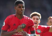 Marcus Rashford scored the opener as Manchester United beat Manchester City in the derby