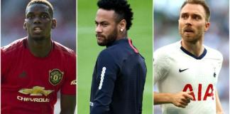 Neymar, Paul Pogba and Christian Eriksen are big names to could move to La Liga on Monday