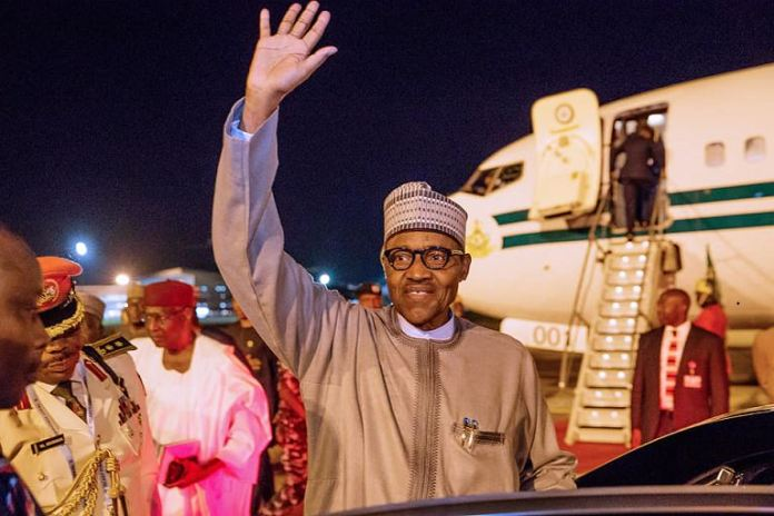 President Muhammadu Buhari arrives Nigeria after attending the 7th Tokyo International Conference on African Development in Japan