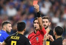 Alexis Sanchez shown red card on full Inter debut