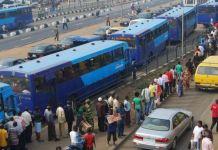 BRT Bus Stop in Lagos, Nigeria