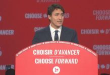 Justin Trudeau's Liberals are expected to claim 156 seats, 14 short of a majority