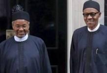 Mallam Mamman Daura and President Muhammadu Buhari in UK
