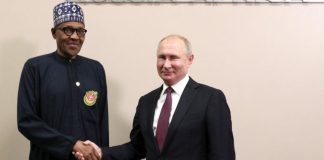 President Muhammadu Buhari and President Vladimir Putin