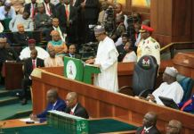 President Muhammadu Buhari presenting 2020 budget to the national assembly 2021 budget