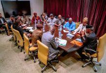 Vice President Yemi Osinbajo met with the leadership of Trade Union Congress over salary increase