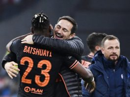 Super sub Batshuayi embrace Frank Lampard after the game