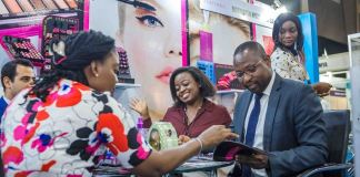 Beauty West Africa exhibition held in Lagos, Nigeria at the Landmark Event Center
