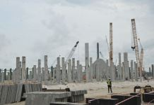 Dangote Refinery and Petrochemicals under construction