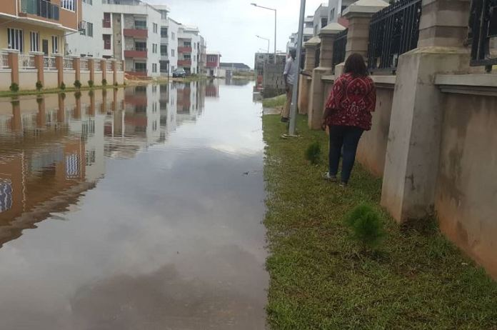 Flood has overtaken Citiview Estate built and managed by Propertymart Real Estate Investment Limited