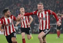 McBurnie scored a dramatic late goal as Sheffield United drew Manchester United at Bramall Lane