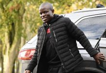 Chelsea and France midfielder N'Golo Kante