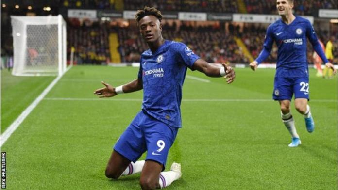 Tammy Abraham has scored three times in the Champions League for Chelsea