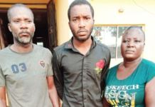 Adeeko Owolabi and his mother after they were arrested by the police