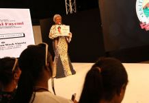 Bisi Fayemi, wife of the governor of Ekiti at the Africa Fashion Week Nigeria