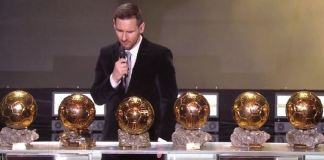 Lionel Messi has won a record sixth Ballon d'Or