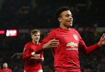 Mason Greenwood is the youngest player to score twice in the same game in Europe for Manchester United, aged 18 years and 72 days