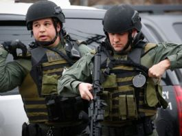 New Jersey cops filled the streets