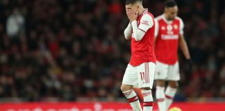 Arsenal were 3-0 down at half-time against Manchester City