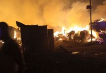 Amu plank market gutted by fire in Mushin, Lagos state