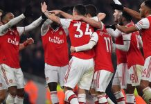 Arsenal celebrated just a second win in 16 games